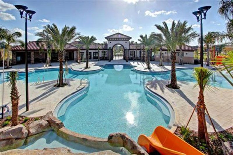 A resort Pool that can be used by owners when you buy property in Orlando Florida