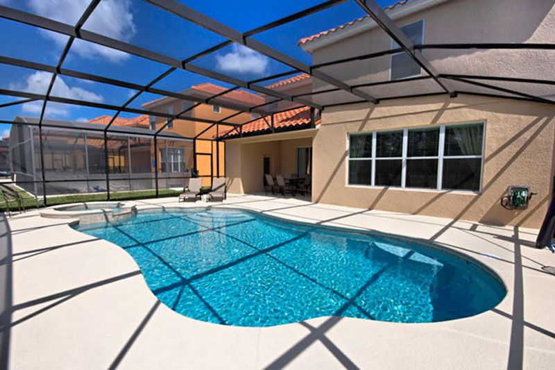 A pool Picture of a home you could buy in Orlando Florida
